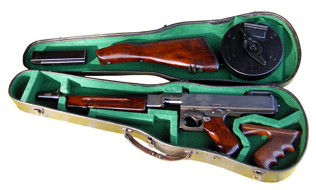 Thompson submachine gun in a violin case - The Gangster Museum of America