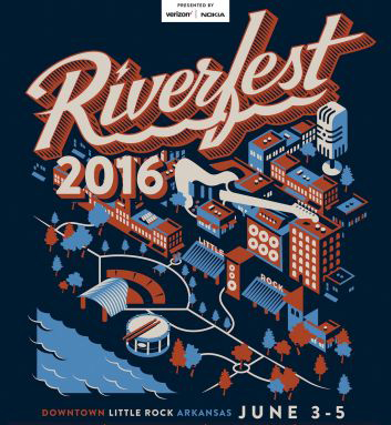 Arkansas' 39th annual Riverfest Poster
