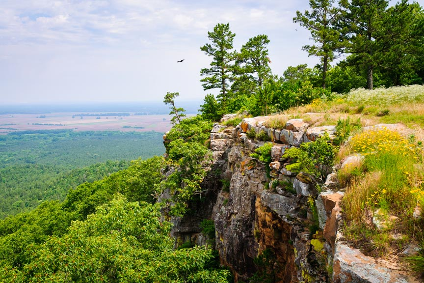 an overlook at Petit Jean State Park