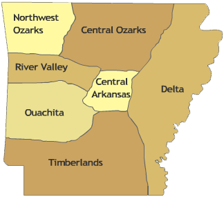 Arkansas Region Map